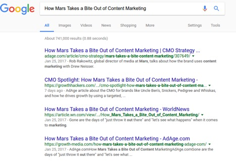Ad Age licensed content search results