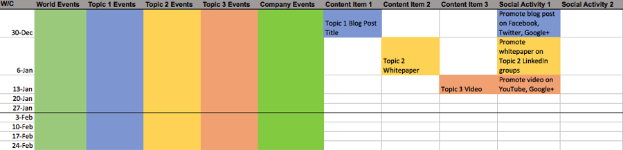 Editorial Calendar Templates For Content Marketing The Ultimate List - Facebook posting schedule template