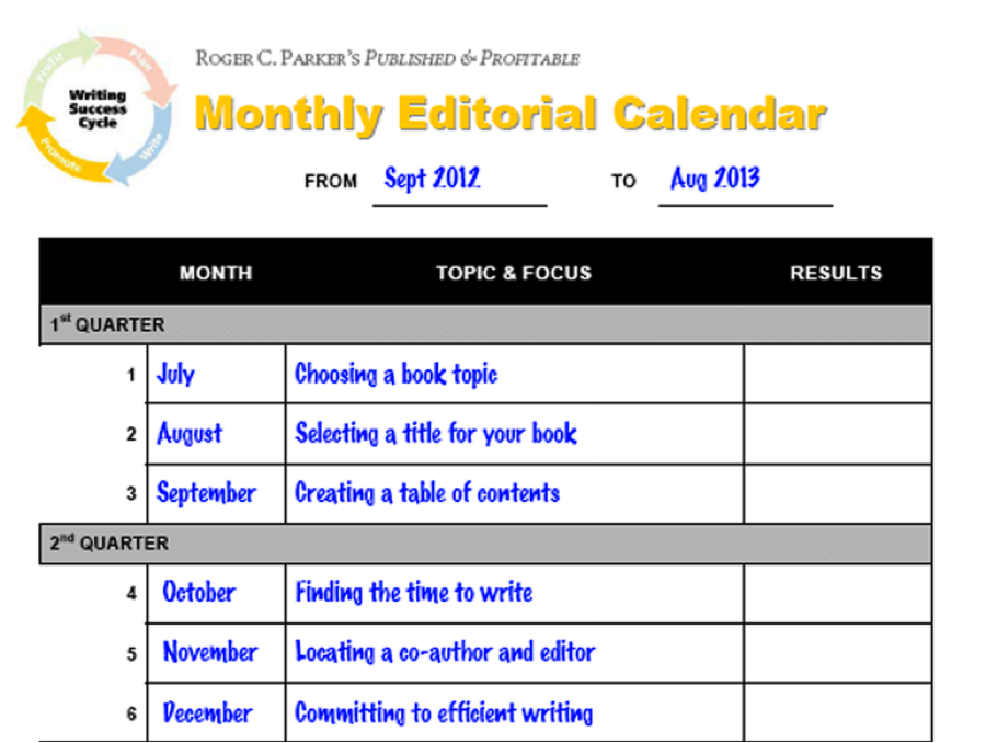 Editorial Calendar Templates For Content Marketing The Ultimate List - Sample marketing calendar