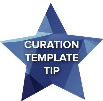 Curation-template-tip