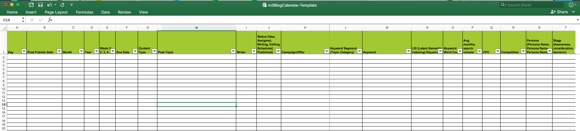 Editorial calendar templates for content marketing the for Blogger product review template