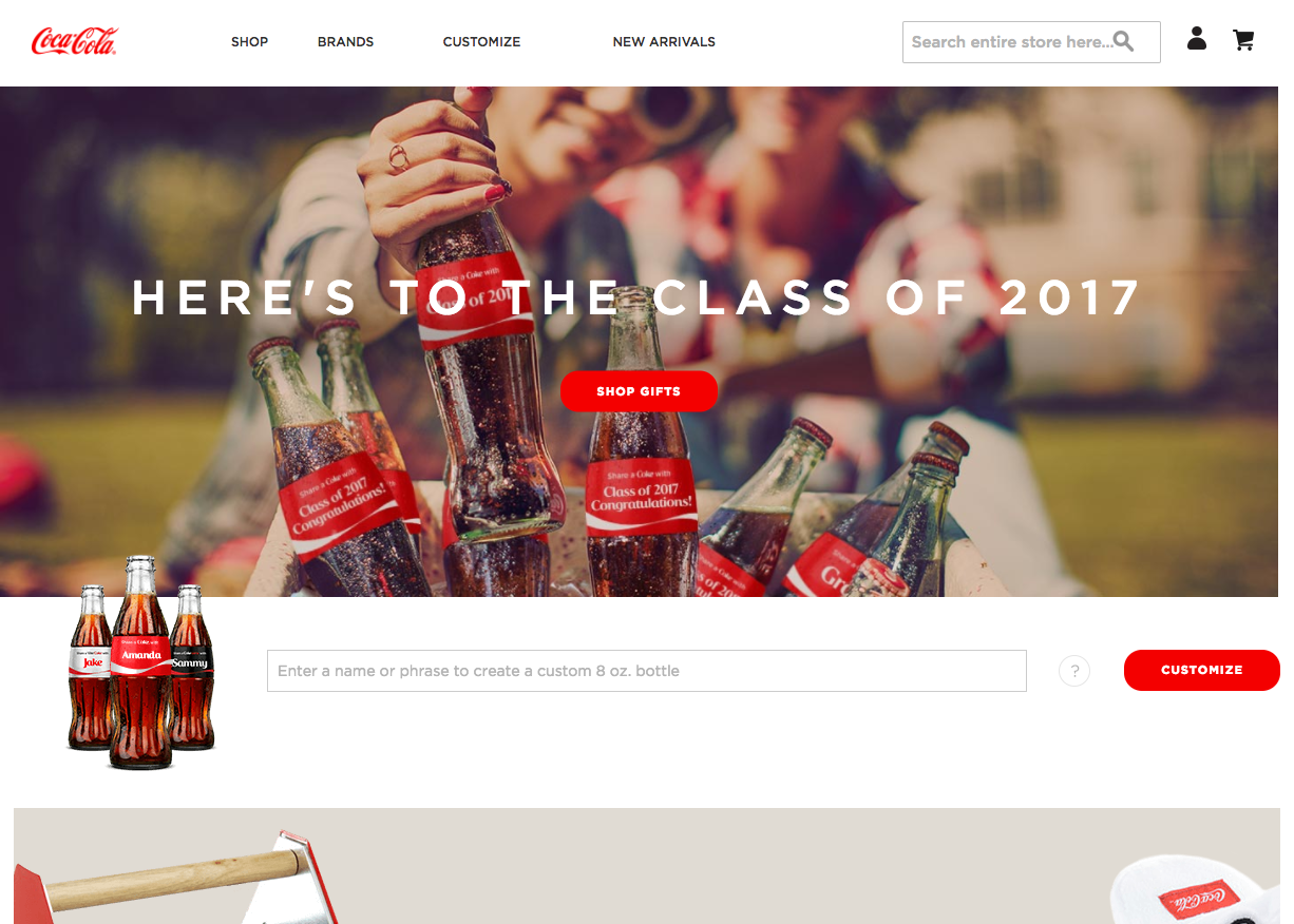 Share a Coke is a successful user generated content campaign