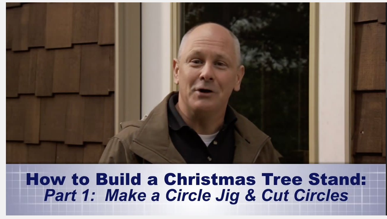 Example of Lowe's video content marketing: How to build a Christmas tree stand