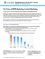 B2B Marketing Trends Survey 2011 Report