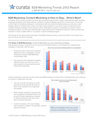 B2B Marketing Trends Survey 2012 Report