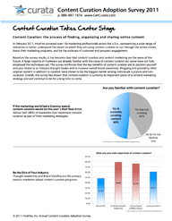 Content Curation Adoption Survey 2011 Report